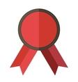 Red vintage badge vector image