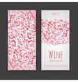 Set of wine labels Artistic watercolor backgroun vector image