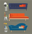 sofa and side table vector image