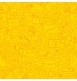 SEO Yellow Line Tile Pattern vector image