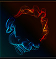 abstract fire and ice vector image vector image