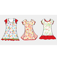 Dresses and t-shirt design for girl vector image