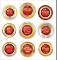 golden luxury badges retro design collection vector image