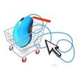 Internet shopping cart concept vector image