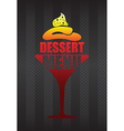dessert menu background vector image