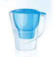 Jug filter for water vector image