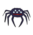 comic cartoon halloween spider vector image