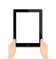 computer tablet vector image