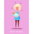 Pixel funny mother character Isolated vector image