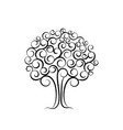 family tree for wedding invitation design vector image