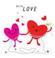 heart cute cartoon character vector image