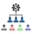industrial bank clients icon vector image