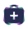 medical first aid box sign colorful icon vector image