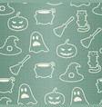 seamless halloween pattern in retro colors vector image