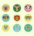 Set of happy cartoon animals vector image