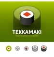 Tekkamaki icon in different style vector image