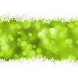 Background green magic lights bokeh EPS 8 vector image