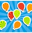 Funny postcard with balloons vector image