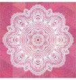 Pink ornate lacy romantic vintage background vector image vector image