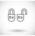 Locking doors vector image vector image