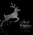 silver christmas deer vector image