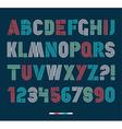 Retro stripes funky fonts settrendy elegant retro vector image