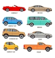 Car types flat icons vector image