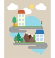 Abstract of countryside vector image