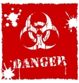 biohazard icon red and white vector image