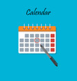cartoon calendar with important date vector image