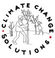 climate change trees vector image