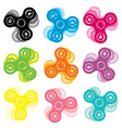 set of hand spinner toys vector image