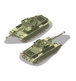 tank isometric military war icon isolated vector image