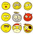 Smiley Doodle 1 vector image vector image