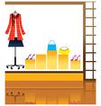 Fashion Shopfront Background vector image