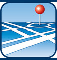 City map with GPS icon vector image vector image