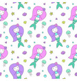 mermaids seamless pattern vector image vector image