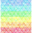 Ornate hand-drawn rainbow triangles vector image vector image