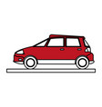 car cartoon silhouette vector image vector image