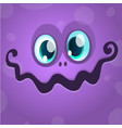 cartoon monster face avatar vector image