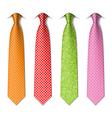 Polka and pin dots silk ties vector image vector image