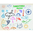 weather sketch vector image