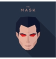 Mask abstract character of a man with red eyes vector image