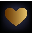 Heart sign Golden style icon vector image