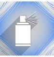 Aerosol paint icon symbol Flat modern web design vector image