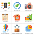 Business and finance marketing and management vector image