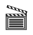 cinema clapboard icon vector image
