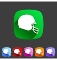 football helmet flat icon sign symbol logo label vector image