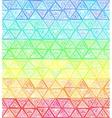 Ornate hand-drawn rainbow triangles vector image