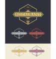 Restaurant logo and design elements vector image
